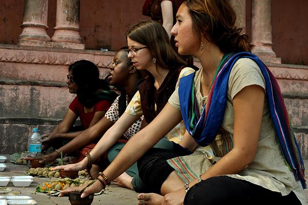 Photo of UW in India program students
