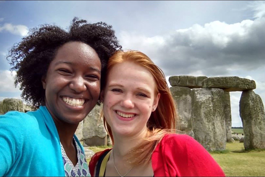 Photo of friends at Stonehenge in England